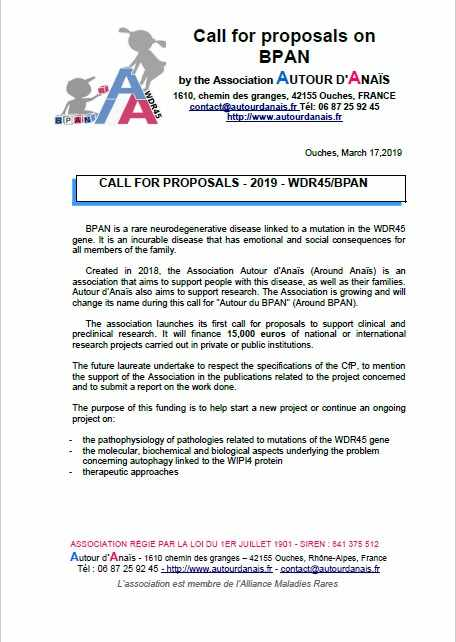Call for proposals on BPAN